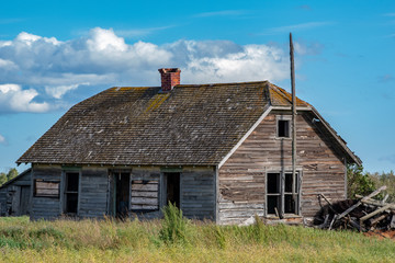 Faded memories abandoned house