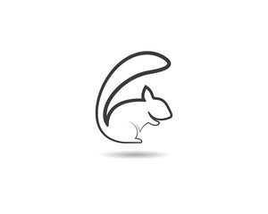 Squirrel symbol illustration