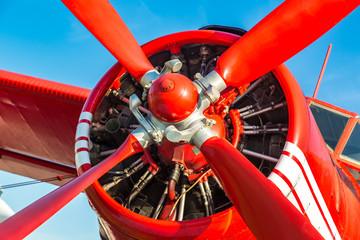 Propeller of Red biplane
