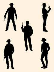 Cowboy detail silhouette. Good use for symbol, logo, web icon, mascot, sign, or any design you want.