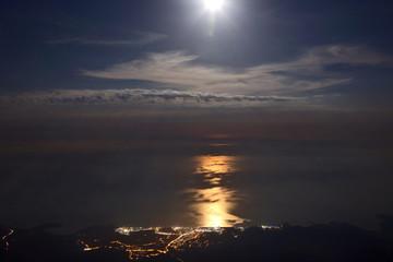 Moonlight night seaside Tekirova Turkey