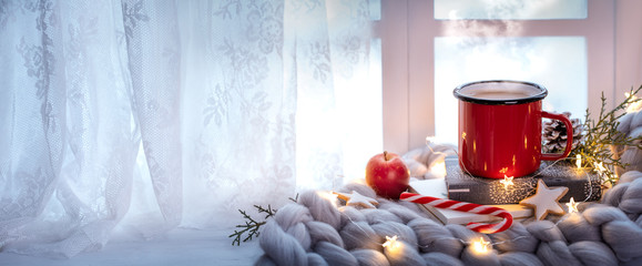 Papiers peints The winter holiday window decoration