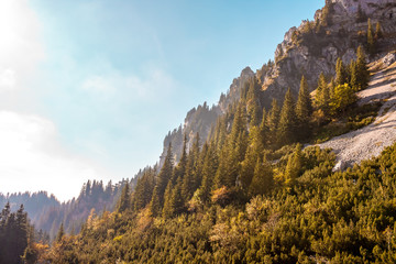 An autumn day in the mountains.