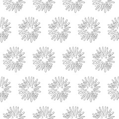 bacteria seamless pattern isolated on white background