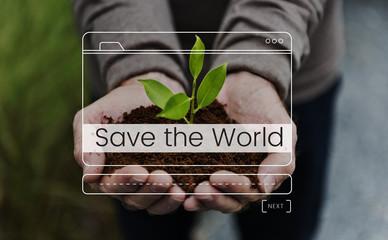 Save The World Message Box Window Graphic