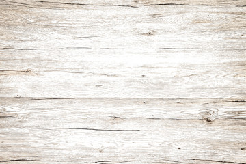 Vintage wood texture white background. Wall mural