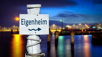 Schild 386 - Eigenheim