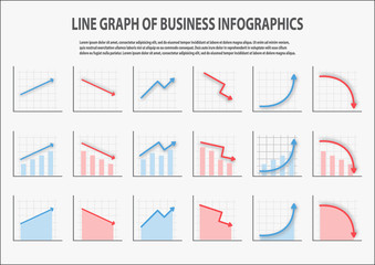 Many type of line chart for Business, Sale forecast,data presentation with up and down options