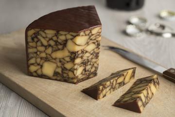 Piece of Irish Cahills porter cheese