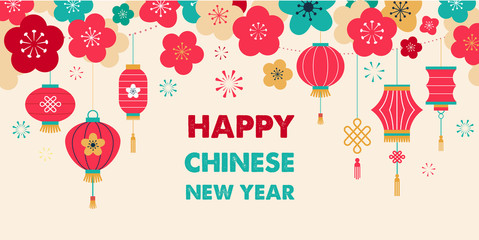 Chinese New Year background, card print, banner