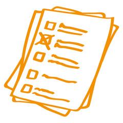Handgezeichnetes Formular in orange