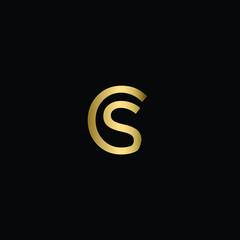 Minimal Solid Letter CS Logo Design Using Letters C S In Vector Format