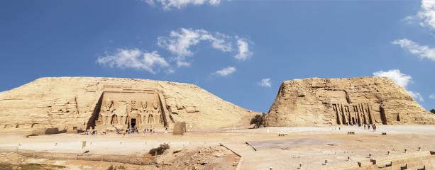 Abu Simbel, the Great Temple of Ramesses II and Small Temple of Nefertari, Egypt