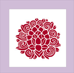 flower pictures for tattoo vector illustration