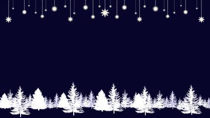 モミの木と星のバックグラウンド