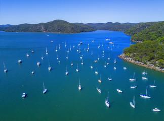 Luxury yachts moored at Brooklyn Australia