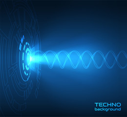 Abstract technology HUD shape vector background. EPS10