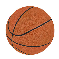 Basketball isolated on a white background as a sports and fitness 1