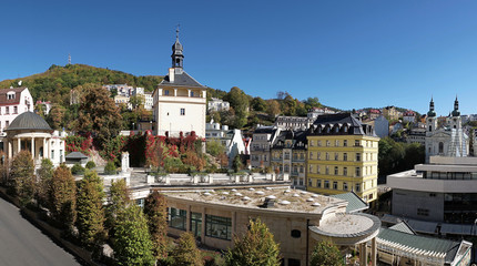 Blick auf Karlovy Vary in der Tschechischen Republik