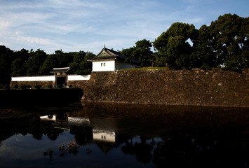 The Imperial Palace's Soto Sakurada-mon gate is pictured in Tokyo