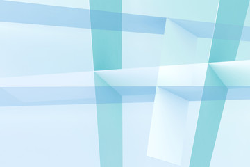 Light blue intersected stripes structure 3d