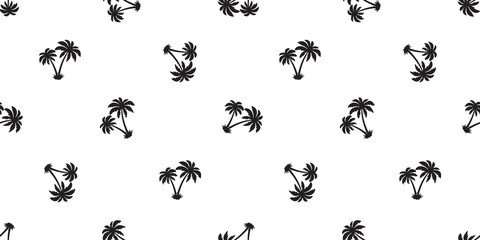 palm tree Seamless Pattern coconut vector island isolated tile background repeat wallpaper white