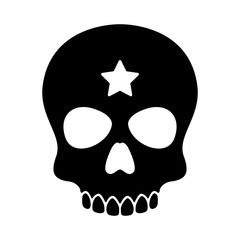 skull vector Halloween icon star logo pirate bone ghost skeleton illustration clip art graphic