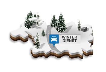 3D Landkarte | Winterdienst