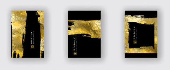 Vector Black and Gold Design Templates set