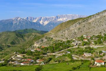 Albania, Qark Korca, Kolonje, Leskovik, Nemercka Mountains in the background
