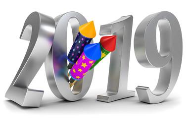 3D Illustration 2019_Raketen