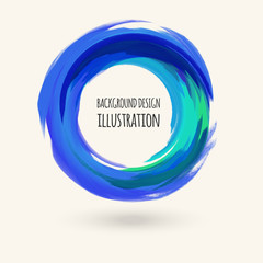 Watercolor brush strokes. eps10 abstract vector illustration