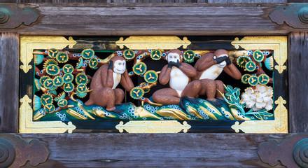 日光東照宮 三猿像