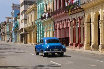 Havana, Paseo de Marti, Streetlife, Old Car