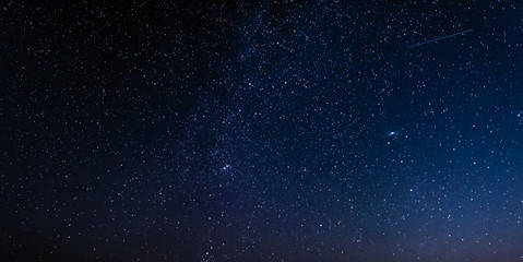 Night sky with stars and galaxy in outer space, universe background Fototapete