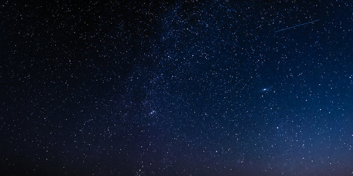 Night sky with stars and galaxy in outer space, universe background