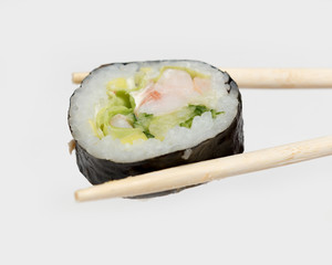 delicious fresh sushi with fish