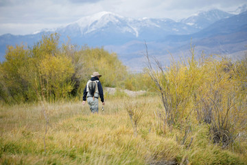 fly fisherman on the Ruby river, Montana