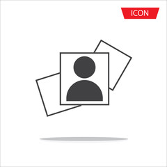 picture icon isolated on white background.