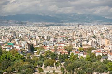 Ateny , widok z Akropou na miasto