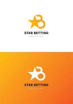 Star betting logo template.