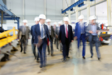 Top management team  visit enterprise