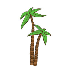 Palm cartoon icon. Hand drawn print. Sticker design.