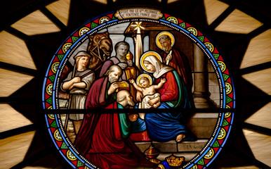 Witraż Boże Narodzenie