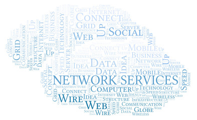 Network Services word cloud.