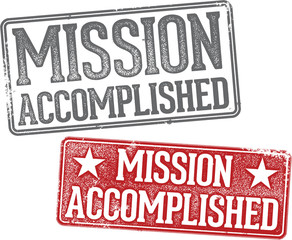 Mission Accomplished Rubber Stamp