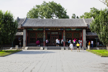 Tourists visiting the famous Summer Imperial Palace in Beijing, China