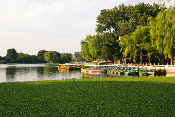 The famous Houhai lake in Beijing, China