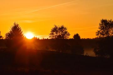 Sonnenaufgang Sonnenuntergang in der Lüneburger Heide