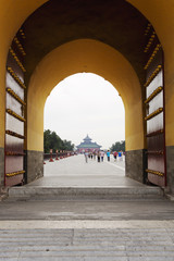Beautiful view of the Temple of Heaven in Beijing, China